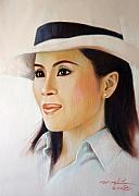Thai Drawings - Princess Ubonrat rachakanya by Chonkhet Phanwichien