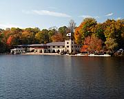 Rowing Crew Prints - Princeton Crew Boathouse Princeton New Jersey Print by George Oze