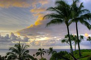 John Greaves Prints - Princeville Sunset Print by John  Greaves