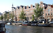 Amsterdam Photos - Prinsengracht Canal in Amsterdam by Marilyn Dunlap