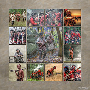 Uniform Metal Prints - Print Collection French and Indian War Metal Print by Randy Steele