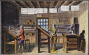 1751 Framed Prints - Print Shop, Paris, 1751 Framed Print by Granger