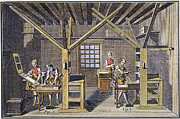1751 Framed Prints - Print Shop Press Room,  1751 Framed Print by Granger