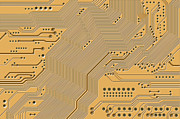 Motherboard Digital Art Prints - Printed Circuit Print by Michal Boubin
