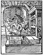 Block Printing Posters - Printing Press, 16th Century Poster by Cordelia Molloy