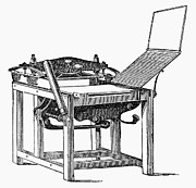 Scottish Printing Prints - Printing Press, 1813 Print by Granger