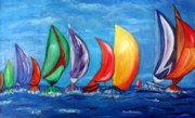 Prismatic Painting Originals - Prismatic Sailin  by Victoria  Johns