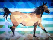 Prismatic Painting Originals - Prismatic Spanish Mare by Joseph  Barbara