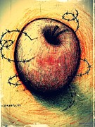 Apple Digital Art Originals - Prison of Human Desire by Paulo Zerbato