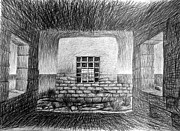 Arabia Drawings Framed Prints - Prison Ruin in Jeddah Framed Print by Donovan OMalley