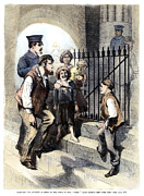 Police Officer Framed Prints - Prison: The Tombs, 1868 Framed Print by Granger