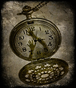 Photomanipulation Photo Prints - Prisoner of time Print by Marie  Gale