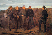 Military Uniform Paintings - Prisoners from the Front by Winslow Homer