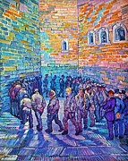 Prison Painting Prints - Prisoners Walking The Round Print by Pg Reproductions