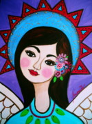 Angel Paintings - Pristine Angel by Pristine Cartera Turkus