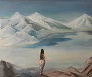 Himalaya Paintings - Pristine desire by Ashwatha Gowda