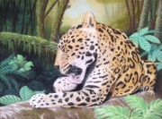 Jaguar Pastels Posters - Pristine Poster by Heather Ward