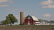 Kkphoto1 Posters - Pristine Wisconsin Farm Poster by Kay Novy