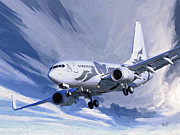 Boeing Paintings - Private jet M-YBBJ by Nop Briex