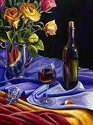 Wine Bottle Paintings - Private Label by Shannon Grissom