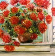 Terra Paintings - Prize Geranium by John  Williams