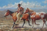 Plains Indian Paintings - Prize Pony by Harvie Brown