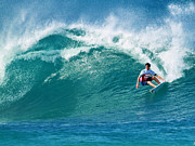 Pipeline Framed Prints - Pro Surfer Gabriel Medina Surfing in the Pipeline Masters Contes Framed Print by Paul Topp