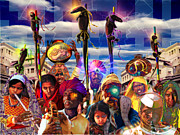Collective Unconscious Art - Procession of the Cybernagas by Mark Myers