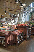 Grocery Store Photo Prints - Produce Section of a Grocery Store Print by Robert Pisano