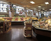Grocery Store Prints - Produce Section of a Supermarket Print by Robert Pisano