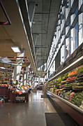 Grocery Store Prints - Produce Section on a Supermarket Print by Robert Pisano
