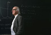 Particle Physicist Prints - Prof. Peter Higgs Print by David Parker
