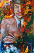 Acryllic  Paintings - Professor by Valera Ainsworth