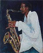New Orleans Oil Paintings - Proffessor DaddyO by Beverly Boulet