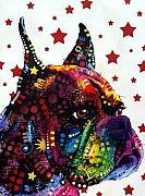Boxer Dog Mixed Media - Profile Boxer by Dean Russo