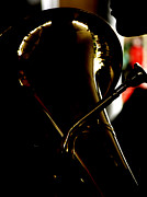 Tubist Prints - Profile in Tuba  Print by Steven  Digman