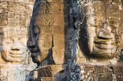 Siem Reap Posters - Profile Of Avalokiteshvara Statue Poster by Axiom Photographic