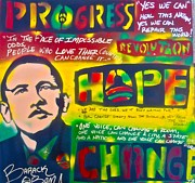 Barack Obama Painting Posters - Progress Poster by Tony B Conscious