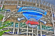 American League Photo Posters - Progressive Field Poster by David Bearden