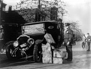 Car Crash Photos - Prohibition, A Policeman Standing by Everett