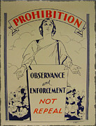 1920 Digital Art Metal Prints - Prohibition - Observance and Enforcement Metal Print by Bill Cannon