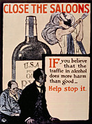 Jt History Posters - Prohibition Poster, 1918 Poster by Everett