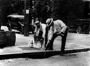 Historical Photos - Prohibition, Pouring Whiskey by Everett
