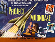1950s Poster Art Framed Prints - Project Moon Base, Aka Project Framed Print by Everett