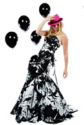 Ball Gown Metal Prints - Prom Girl Metal Print by Jim Boardman