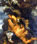 Eagle Paintings - Prometheus Bound by Granger