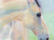 Horse Pastels Paintings - Promise Doc by Kimberly Santini