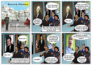 Barack Obama Digital Art Prints - Promise to Uphold the Constitution and My Zipper Print by Kevin  Marley