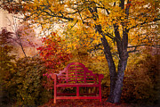 Benches Prints - Promises Made Print by Debra and Dave Vanderlaan