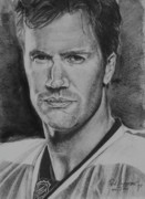 Sports Portrait Drawings Drawings - Pronger by Paul Autodore